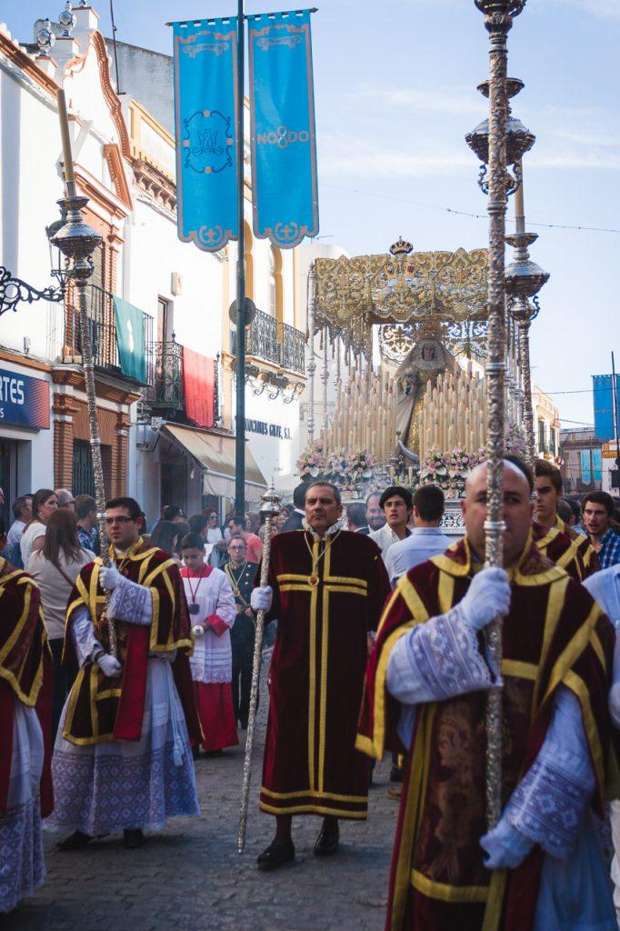 Virgen de la Palma por la calle San Pedro