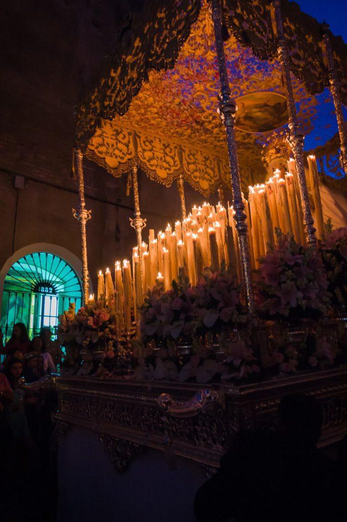 Virgen de la Palma por la calle Carrera
